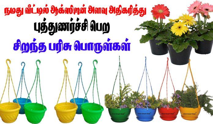 Plant pots Amazon ஆக்ஸிஜன் அதிகரித்து நமது வீட்டை மேலும் அழகாக அலங்கரிக்க தொங்கும் பிளாஸ்டிக் பூந்தொட்டிகள் Tamil Do Something New