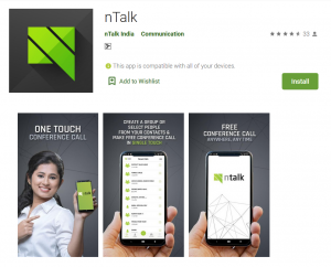 nTalk Conference Call android app