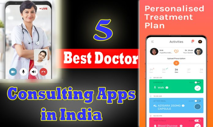 DocsApp, MFine,1mg, Tata Health, Phable - top best doctor consultation apps
