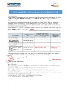 Hdfc credit card reward points covert to cash form download
